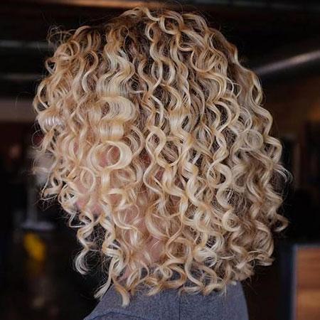 Curly, Permed, Lob, Curls, Wedding, Spiral, Shoulder, Short