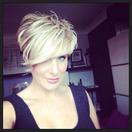 Short Hairstyles, Blonde Hairstyles, Waves, Pixie Cut, Narrow