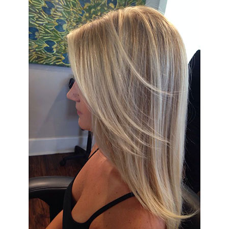 Blonde, Highlights, Balayage, Platinum, Long, Soft, Ombre