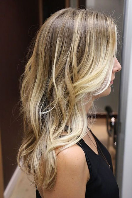 Blonde Balayage Ombre Soft Natural Dyed