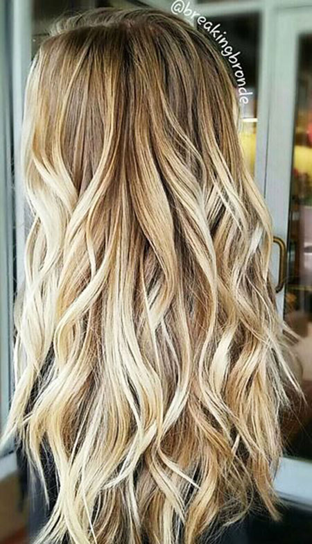 Blonde Balayage Highlights Honey Curly Ash 2017