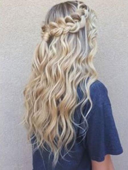 Braids Wedding Long Curly Curls Curled Braided Braid