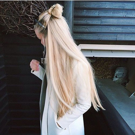 Long Blonde Very Trends Fashion Braided 2017