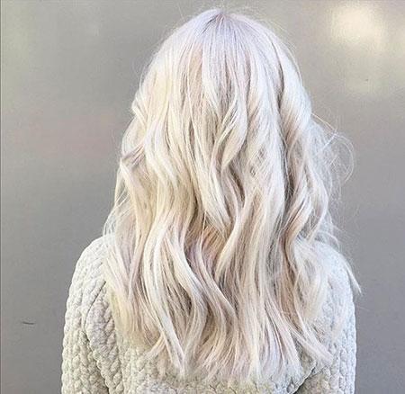 Blonde Silver White Balayage Platinum Ash
