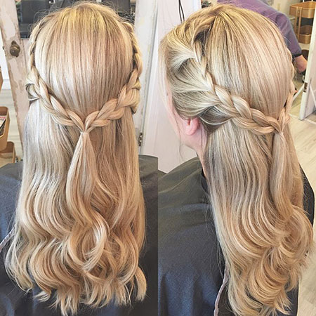 Updo, Prom, Braided, Wedding, Updos, Tutorials, Trenza, Summer, Platinum