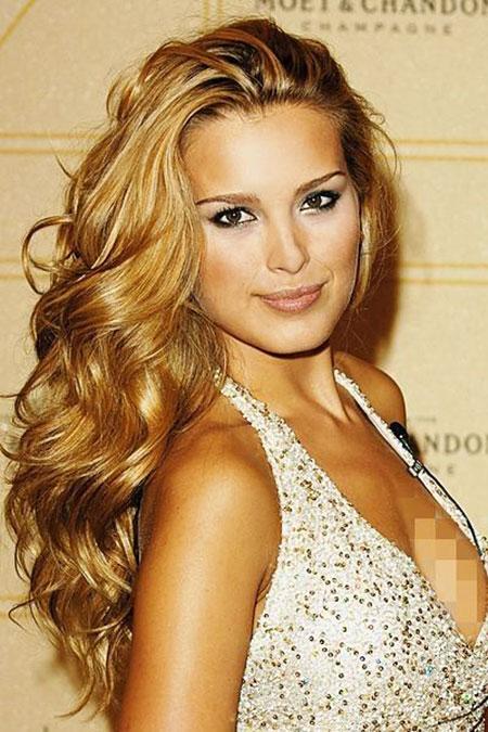 Medium Golden Curls Blonde Natural Long Length Big