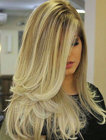 Blonde Highlights Balayage Trends Sleek Lowlights Long