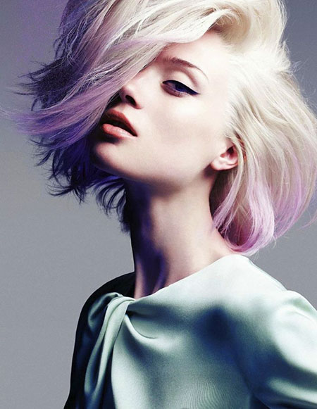 Purple, Short Hairstyles, Pastel, Ombre, Blonde Hairstyles