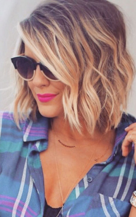 Short Hairstyles, Length, Medium, Blonde Hairstyles, Women, Wavy