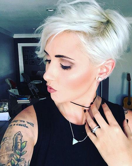 Pixie Cut, Short Hairstyles, Blonde Hairstyles, Platinum, Edgy