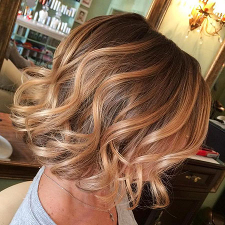 Balayage, Blonde Hairstyles, Short Hairstyles, Ombre, Medium, Length
