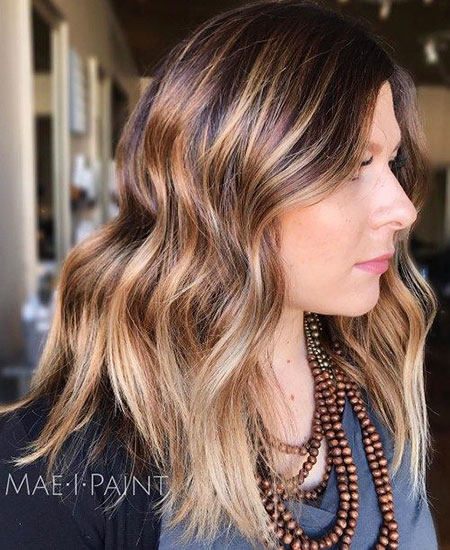 Brown, Blonde, Highlights, Balayage, Warm, Trend, Tones