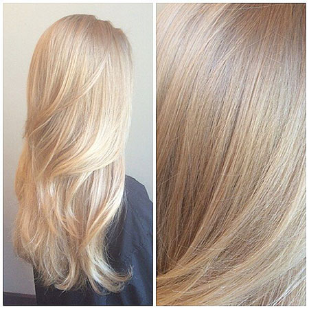 Blonde, Highlights, Up, Toned, Soft, Ombre, High, Gold, Girl