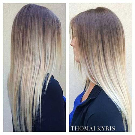 Blonde Ombre Balayage Straight School Long