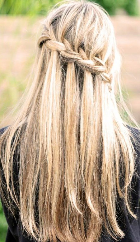 Braid Waterfall Straight Long French Braided Wavy View