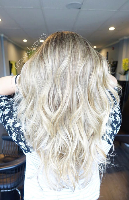 Blonde Highlights Balayage Ombre Long