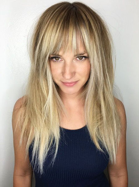 Blonde, Thin, Reese, Long, Fine, Bangs, witherspoon