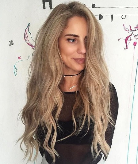 Blonde Balayage Ash Wavy Tones Skin Over Natural Long
