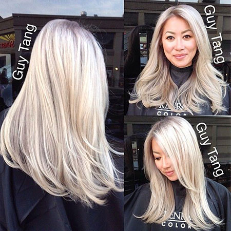 Blonde, Platinum, İcy, İce, Balayage