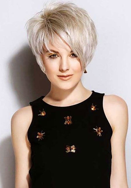 Short Hairstyles, Pixie Cut, Women, Very, Over, Long, Fine