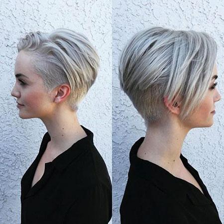 Short Hairstyles Pixie Cut Undercut Blonde Women