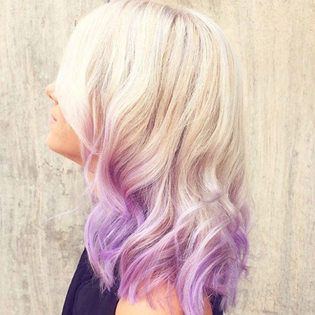 Pink, Ombre, Blonde Hairstyles, Short Hairstyles, Purple
