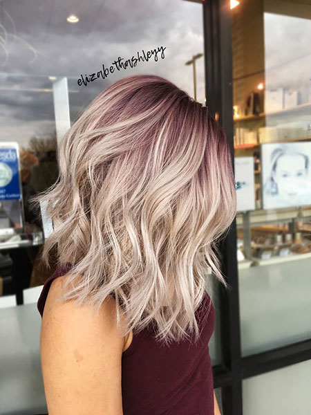 Blonde Hairstyles, Balayage, Purple, Pink, Ombre, Honey