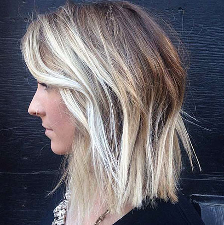 Blonde Hairstyles, Balayage, Bright, Textured, Short Hairstyles