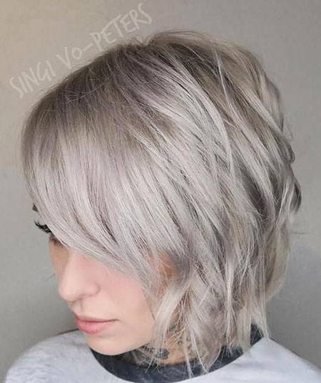 Blonde Hairstyles, Short Hairstyles, Layered, Turquoise, Shag