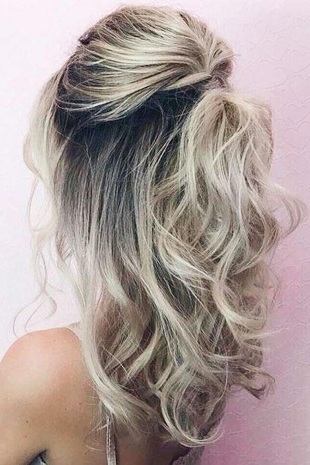 Blonde, Balayage, Wedding, Trendy, Some, Modern, Messy, Medium, Length, Bun