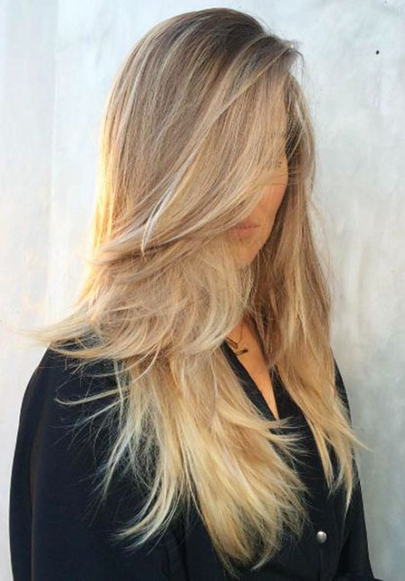 Blonde Long Ombre Easy Beach Wild Waves