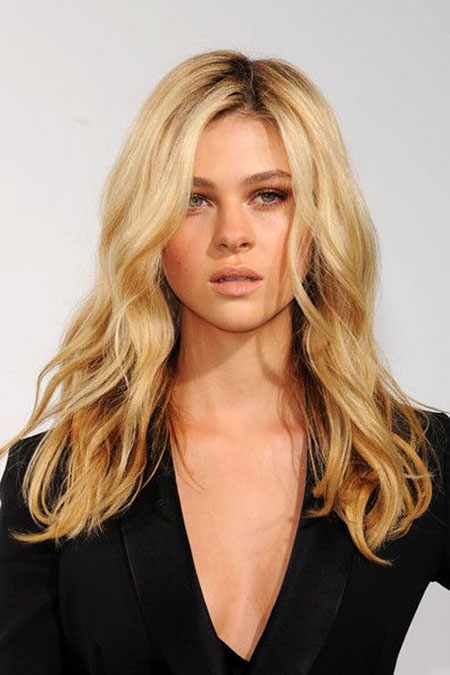 Wavy Long Blonde Women Locks Head Fashion Celebrity 20