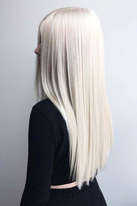 Blonde Platinum Highlights Shades Shade Long Eye