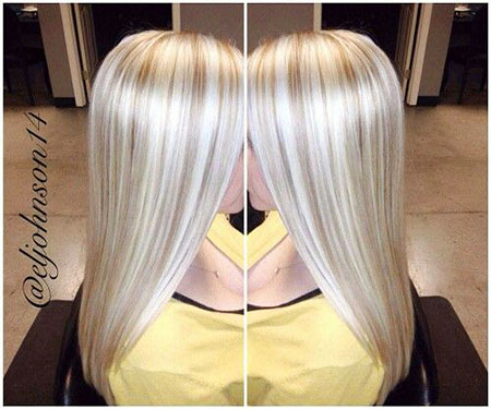 Blonde, Platinum, Highlights, Balayage, Soft, Modern
