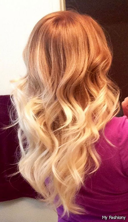 Ombre, Blonde, Strawberry, Ginger, Colors, Balayage