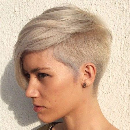 Short Hairstyles, Undercut, Pixie Cut, Side, Reverse, Over, Ombre, Lilac