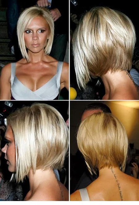 Short Hairstyles, Blonde Bob Hairstyles, White, Inverted, Highlights
