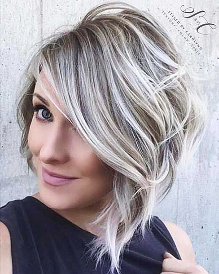 Blonde Hairstyles, Balayage, Blonde Bob Hairstyles, White
