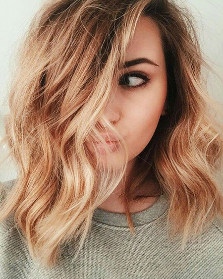 Short Hairstyles, Gold, Blonde Hairstyles, Wavy, Rose, Long