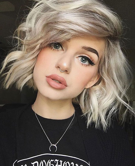 Short Hairstyles, Platinum, Pastel, Model, Lob, Blonde Hairstyles