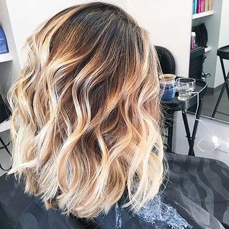 Blonde Hairstyles, Balayage, Ombre, Short Hairstyles, Women, Lob