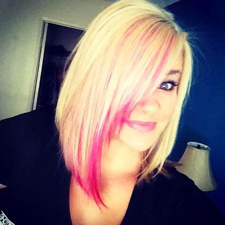 Blonde Bob Hairstyles, Blonde Hairstyles, Trendy, Pink, Over