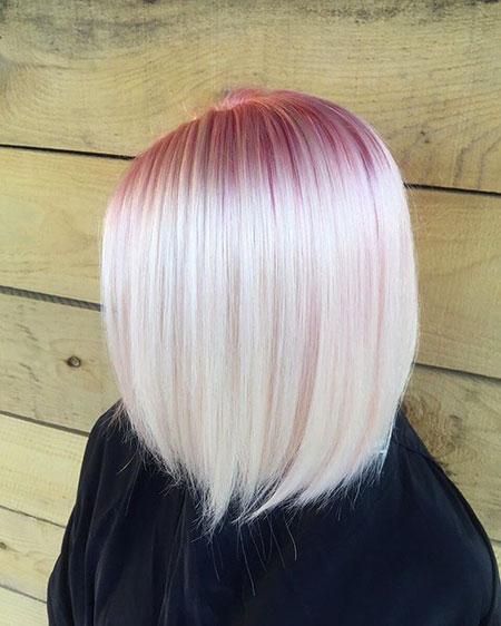 Blonde Hairstyles, Blonde Bob Hairstyles, Wavy, Trendy, Silver