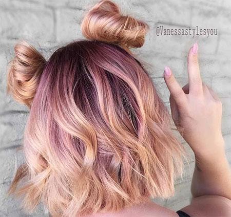 Gold, Rose, Tang, Pink, Pastel, Instagram, Guy, Blonde Bob Hairstyles