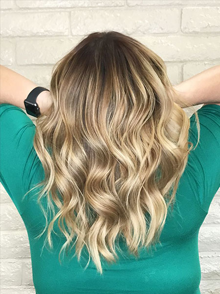 Blonde, Balayage, Highlights, Medium