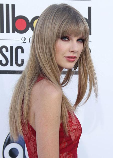 Taylor Swift Red Natural Blonde Bangs Ash 2017