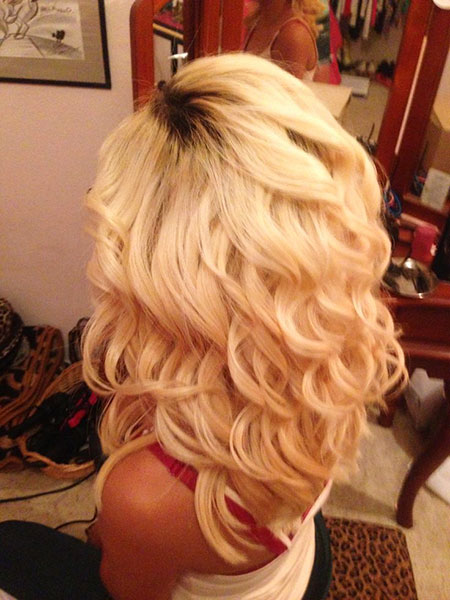 Blonde, Wedding, Curls, Tan, Short, Prom, Pretty