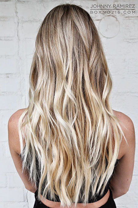 Highlights Blonde Balayage White Sombre Line Beach