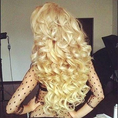 Blonde, Curly, Curls, Wedding, Thick, Spiral, Down, Big