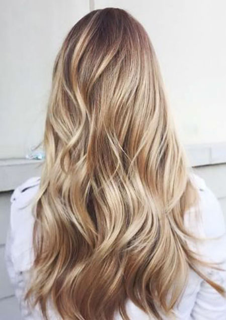 Blonde, Balayage, Highlights, Waves, Light, Eyes, Colors, 2017